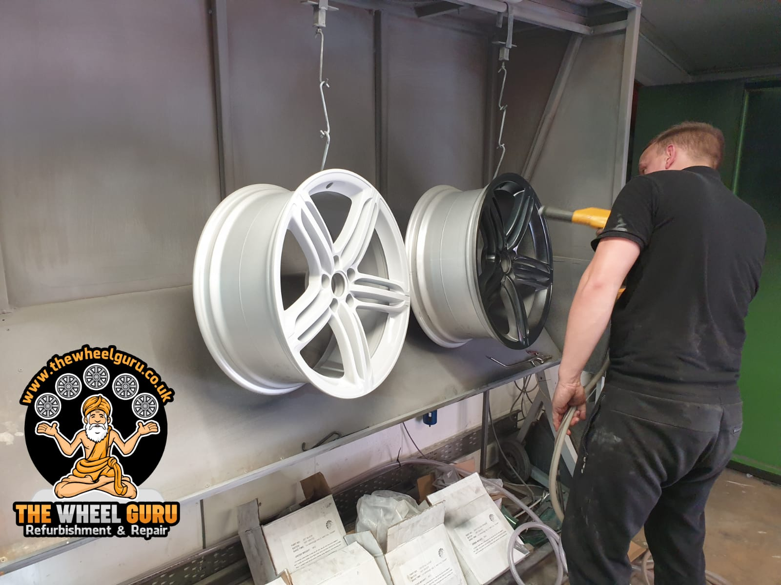 Powder Coating Wheels Process